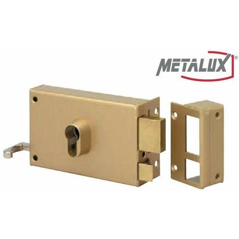 Coffre de Sûreté en applique H gauche tirant 140mm Dom Metalux