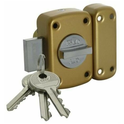 Verrou a bouton 15 bronze or arnov gb cylindre 40 mm3 cles - ISEO 11250401