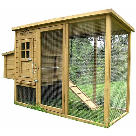 Pets Imperial® Wentworth Large Deluxe Chicken Coop Hen Ark House Poultry Run Nest Box Rabbit Hutch Suitable For Up To 4 Birds - Integrated Run & Cleaning Tray & Innovative Locking Mechanism