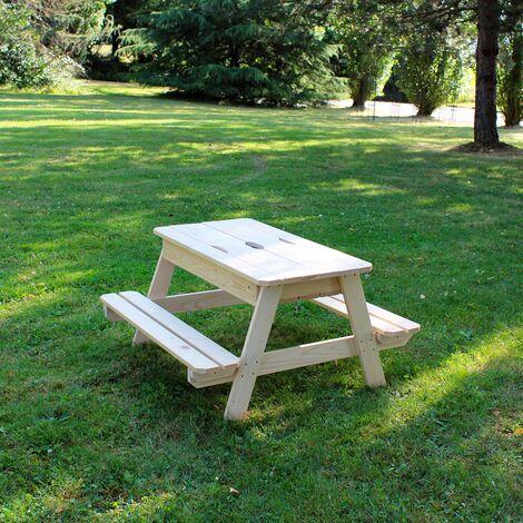 Table en bois pour enfant avec bac à sable intégré - Soulet