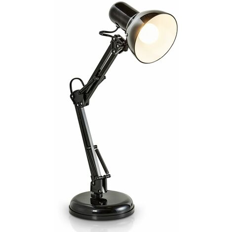 Lampe de bureau LED lampe de table noire design retro métal orientable & pivotable