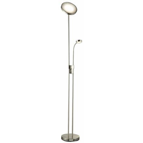 Lampadaire LED dimmable métal lampe à vasque salon orientable
