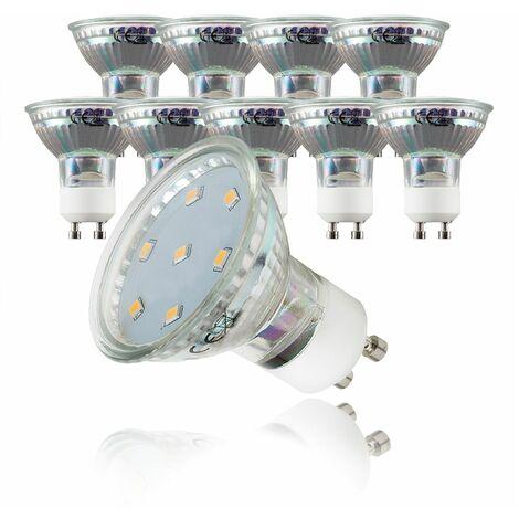 Ampoule LED GU10 ampoule d'économie d'énergie 3W blanc chaud spot 3000K