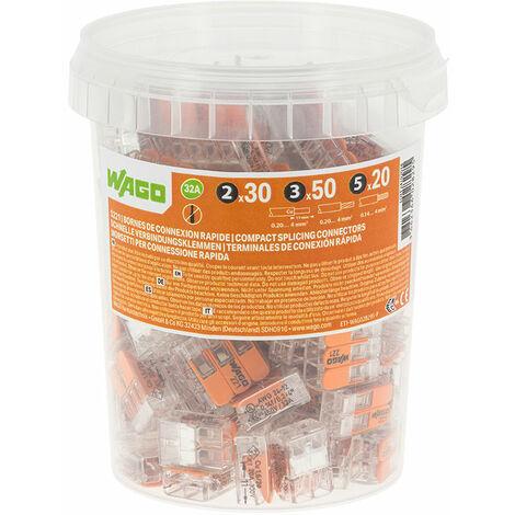 Pot de 100 bornes de connexion automatique S221 2,3 et 5 entrées - WAGO