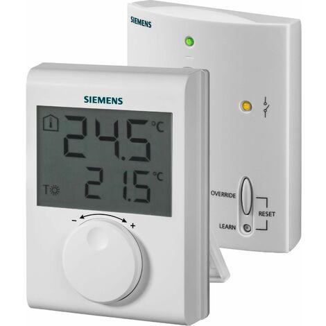 Thermostat d'ambiance sans fil, pour système de chauffage avec afficheur LCD - SIEMENS
