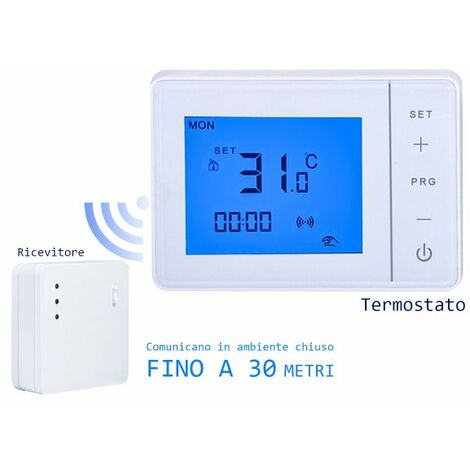 Termostato Wireless RF Cronotermostato Digitale Settimanale Touch Per Caldaia A Gas e Riscaldamento Termosifone Ad Acqua 3A 220V