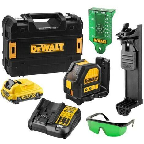 DeWalt DCE088D1G 10.8V Self Levelling Cross Line Laser Kit (Green Beam & 1 x 2.0Ah Battery, Charger & Case) - 10.8V