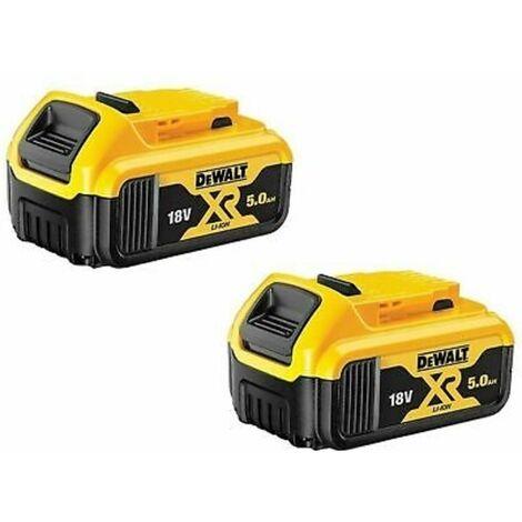 DeWalt DCB184 18V XR Li-Ion 5.0Ah Batteries Twin Pack