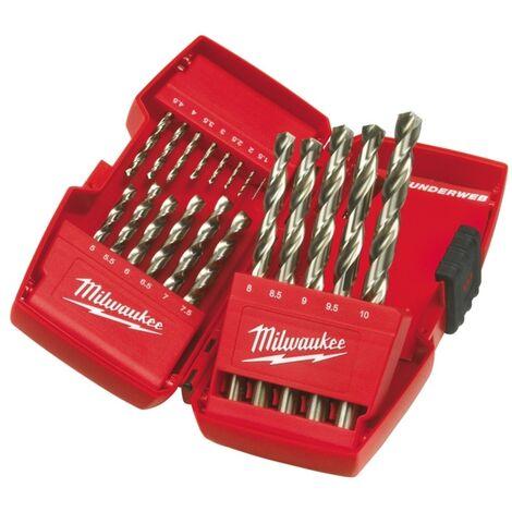 Milwaukee 4932352374 Thunderweb 19 Piece HSS-G Metal Drill Bit Set