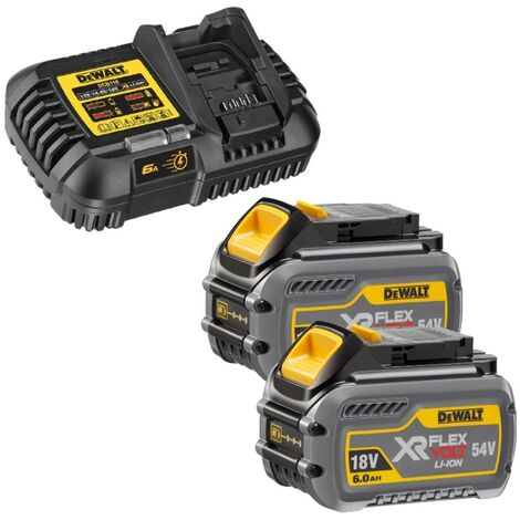 DEWALT 6.0AH BATTERY * X 2 * FLEXVOLT 54V/18V * + DCB118 *