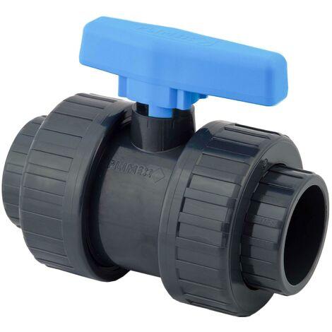 Vanne à bille PVC pression - Femelle à coller, Femelle à coller. - Diamètre 32 mm