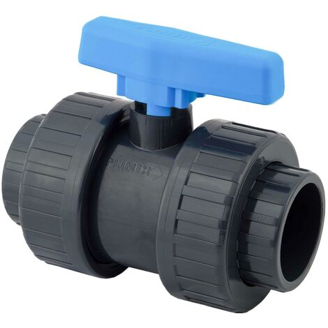 Vanne à bille PVC pression - Femelle à coller, Femelle à coller. - Diamètre 40 mm