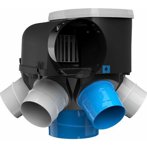 Kit VMC Autocosy iH - Simple flux autoréglable Avec 5 bouches Line - AUTOCOSY LINE KIT Comprenant 1 Groupe AUTOCOSY + 5 Bouches Line (1xD.125mm + 4xD.80mm)