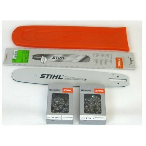 Stihl 30030006811 Rollomatic E 37cm 0,325'1,6mm+ 2 Stihl Vollmeißelken +Stihl Schwertschutz