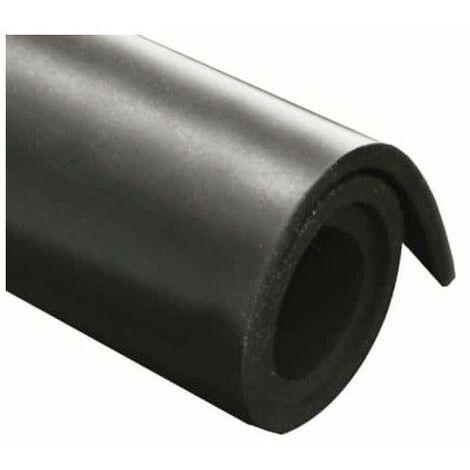 foglio di gomma naturale 100x140cm 1 mm di spessore - Noir