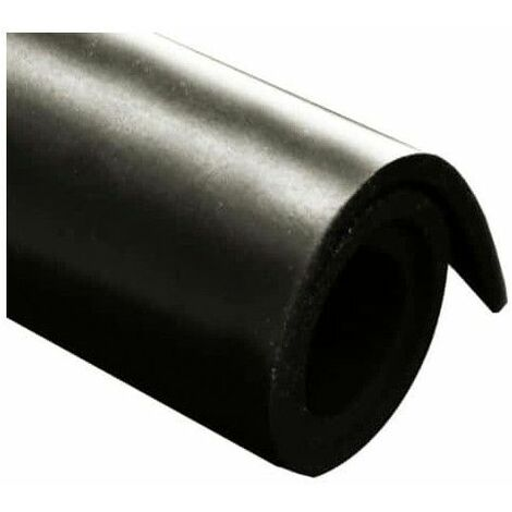 Gomma naturale foglio di tela 100x140cm spessore 4mm - Noir