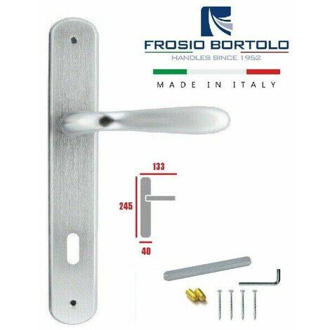 Coppia maniglie con placca 70 mm cromo satinato maniglia porte bussole interne