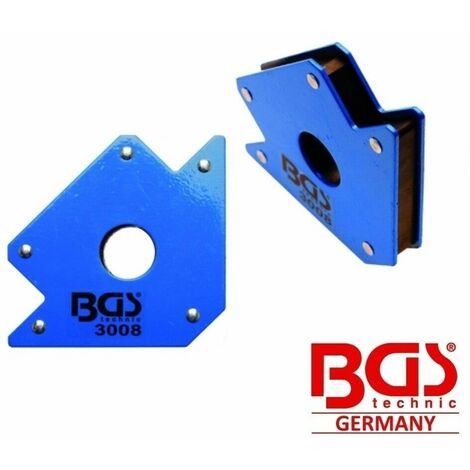 Squadra magnetica per saldatura 22 kg supporto magnetico 45° 90° 135° bgs 3008