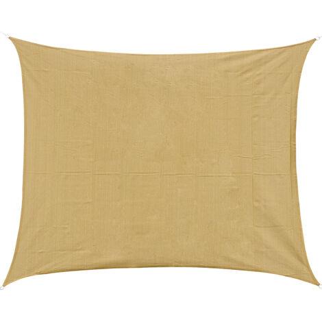 Voile d'ombrage rectangulaire 4x6m toile solaire taud de soleil sable - Jaune