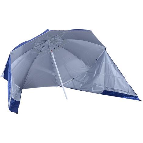 Parasol abri solaire contemporain protection UPF 50+ sac transport fourni bleu marine - Bleu