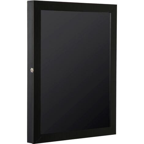 Frame box T-frame cadre nielsen cadre pour maillot porte acrylique doublure interne feutre 71L x 7l x 89H cm noir - Noir