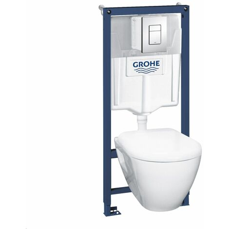 Pack Bati WC Grohe Solido Perfect Compact+Set phonique