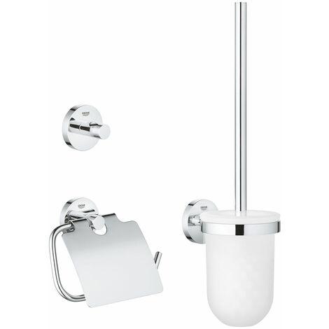 GROHE Set d'accessoires 3 en 1 Essentials Chromé 40407001
