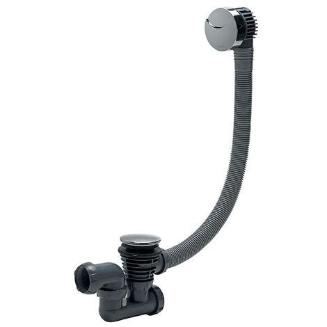 Vidage de baignoire à câble finition ABS chromé L700mm - Wirquin Pro - 30720356