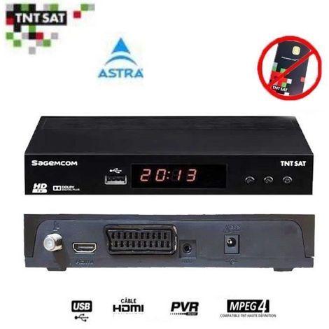 SAGEM DS81HD DƒCODEUR SATELLITE TNTSAT HD (ASTRA 19.2¡) (VENDU SANS CARTE)