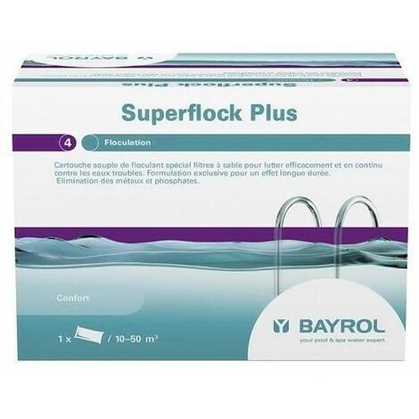 cartouche de floculant pour filtre à sable 1kg - superflock plus - bayrol