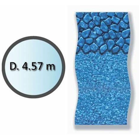 liner boulder forme ronde d.4.57m pour piscine hors sol - li1548sbo - swimline
