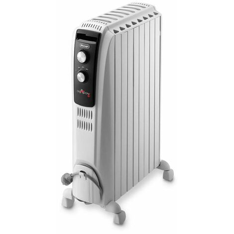 radiateur à bain d'huile 2000w blanc - trd40820 - delonghi