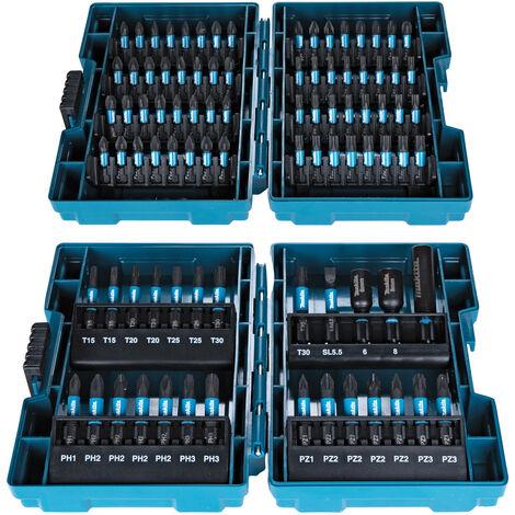 Makita Impact Black Bit Set Satz Box Bitbox Bitsortiment 90-tlg. E-03109 25/50mm