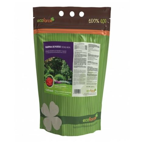 CULTIVERS Harina de Hueso de 5 kg. Abono para Plantas ecologico Que aporta fosforo y Calcio a Todo Tipo de Cultivos
