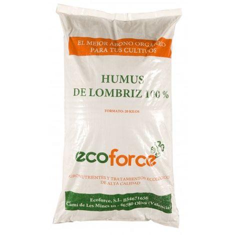 CULTIVERS Humus de Lombriz ecológico 20 kg (40 L). Abono para plantas indicado para tomates y hortalizas