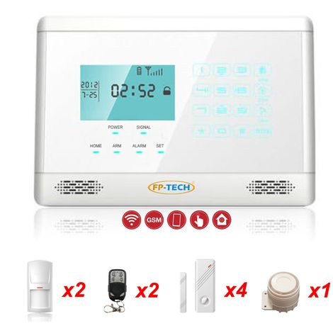 Antifurto Allarme Casa Kit Combinatore Gsm Wireless Senza Fili Da Cellulare App - M