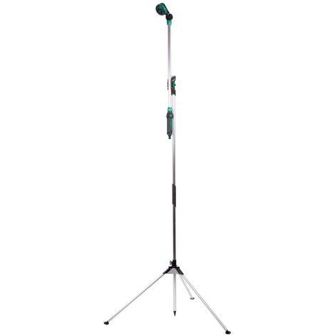Douche de jardin / Lance d'arrosage télescopique 2-en-1 – Hauteur réglable 149-190cm, pomme de douche réglable à 180°