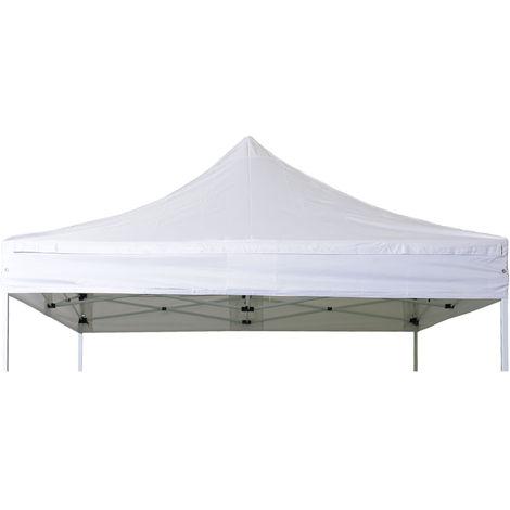 Bache de toit barnum pliant 3x3m Polyester pellicule PVC 300g/m2