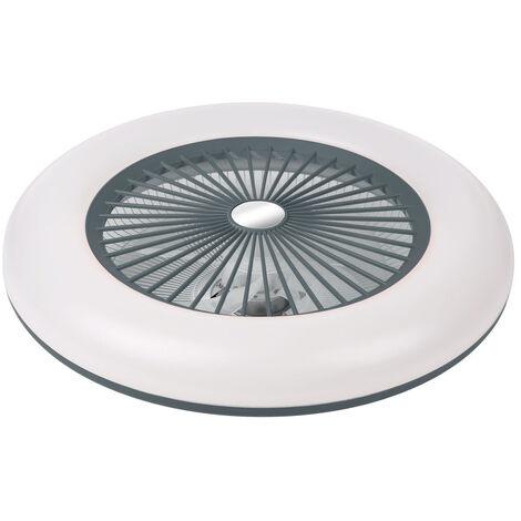Ventilateur De Plafond, Lumiere Led, Vitesse Du Vent Reglable, Dimmable, Telecommande, 36W