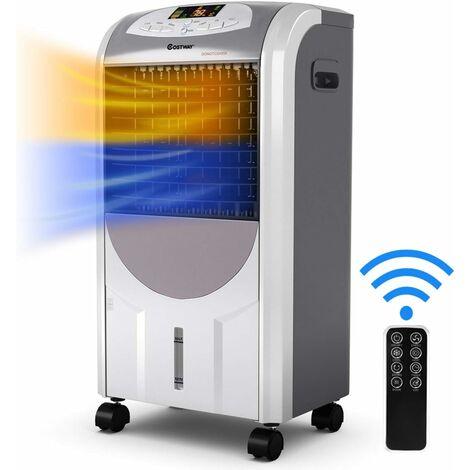 Acondicionador de Aire Frío Calor Portátil de 2000W Calefacción / 75W Enfriamiento/Temporizador 8H / Tanque de Agua 7L / Ángulo 70 ° / Control Remoto