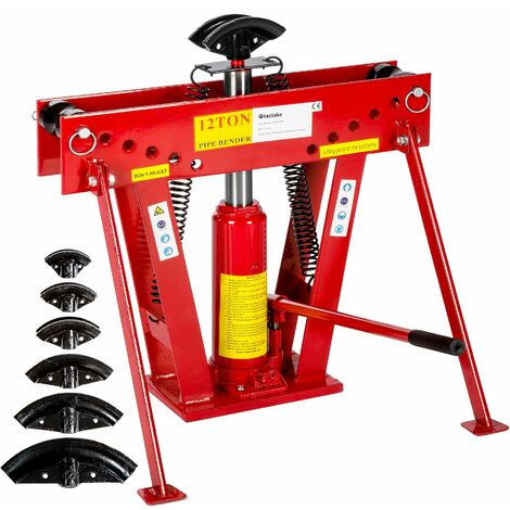 Pipe bender hydraulic 43 kg - conduit bender, tube bender, hydraulic pipe bender - red
