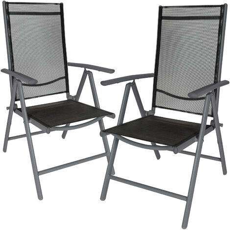 2 aluminium garden chairs - reclining garden chairs, garden recliners, outdoor chairs
