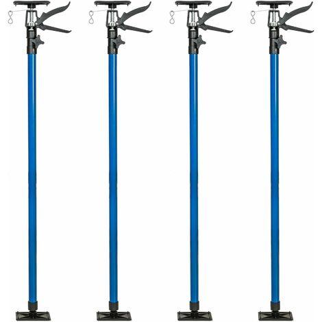 4 plasterboard props 115 up to max. 290cm - build prop, support prop, adjustable props