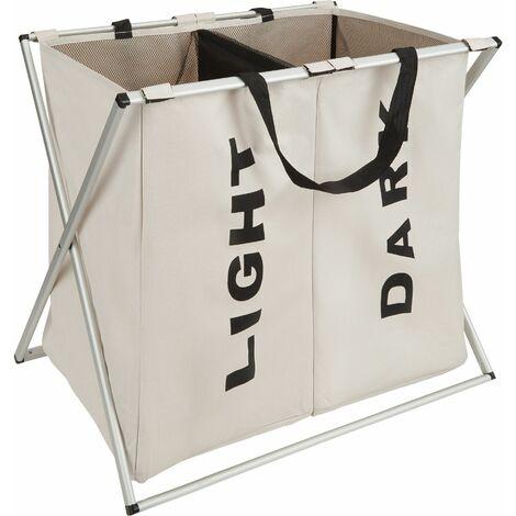Laundry basket double - hamper basket, hamper, washing basket
