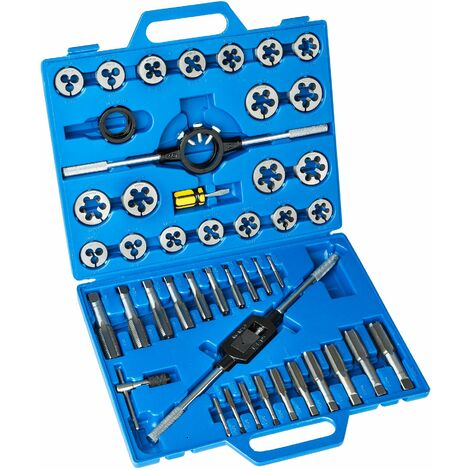 Tap and die set 45-PCs. - tap set, thread tap, tap kit - blue