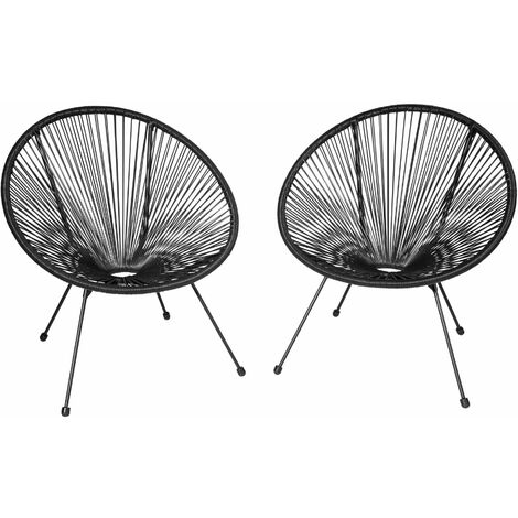 Set of 2 Gabriella chairs - garden chairs, egg chairs, bedroom chairs