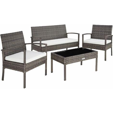 Rattan garden furniture set Sparta 3+1 - garden tables and chairs, garden furniture set, outdoor table and chairs