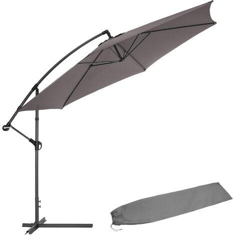 Cantilever Parasol 350cm with protective sleeve - garden parasol, overhanging parasol, banana parasol