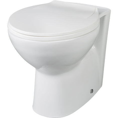 Nuie BTW002 Melbourne | Back To Wall Pan, White