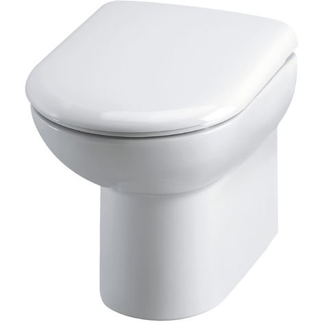 Nuie BTW005 Lawton | Back To Wall Pan, White